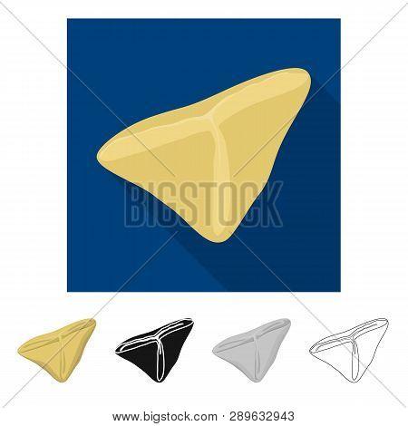 Vector Design Of Ravioli  And Pierogi Icon. Set Of Ravioli  And Pelmeni Vector Icon For Stock.