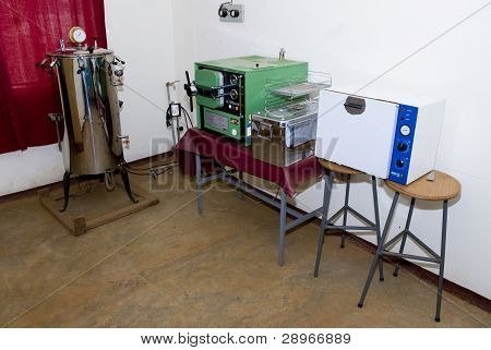 The Cleaning And Sterilising Area At The Nekemte Eye Clinic