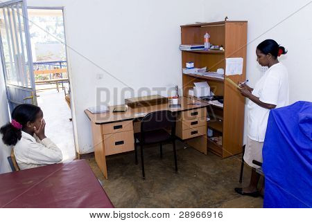 The Consultancy And Minor Surgery Rooms At The Nekemte Eye Clinic
