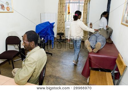 Patient's Waiting For Consultation And Treatment In The Receptiom Room At The Nekemte Eye Clinic.