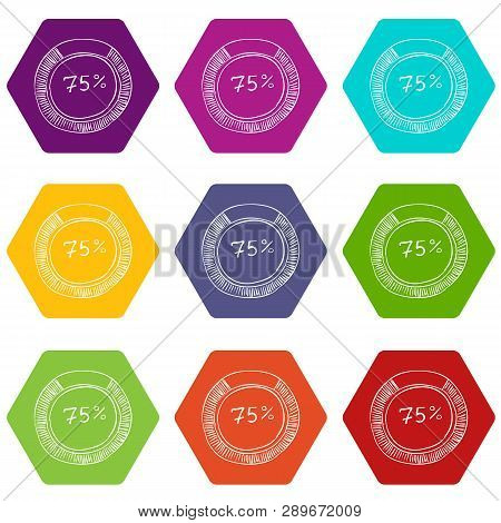 Percent Showing Infographics. Hand Drawn Illustration Of Percent Showing Infographics For Web