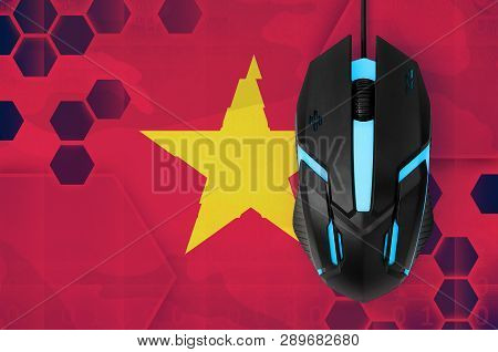 Vietnam Flag  And Computer Mouse. Concept Of Country Representing E-sports Team