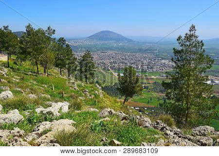 Views Of The Jezreel Valley And Mount Tabor From The Heights Of Mount Precipice, Located Just Outsid