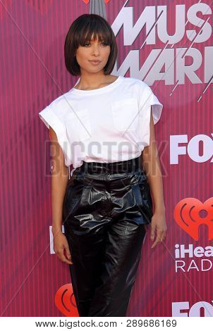 Kat Graham at the 2019 iHeartRadio Music Awards held at the Microsoft Theater in Los Angeles, USA on March 14, 2019.