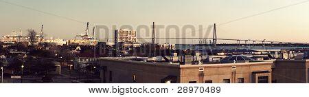 Early Morning Panorama Of Charleston