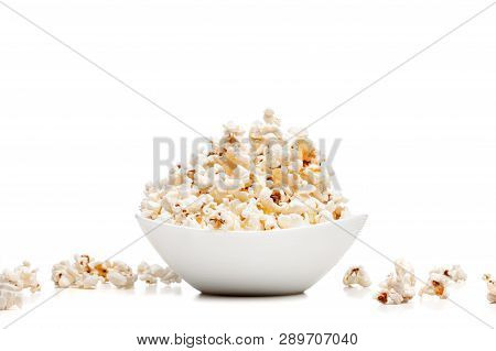 White Bowl With Popcorn
