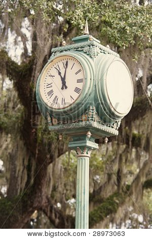 Old Street Clock In Tallahassee