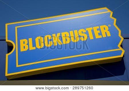 Perth, Australia - March 13, 2019: The Last Blockbuster Video Store In Australia Closing Down In The