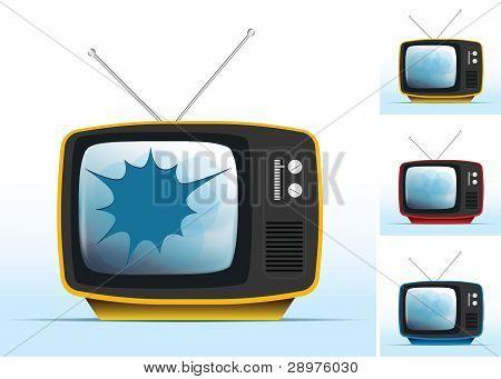 broken old tv