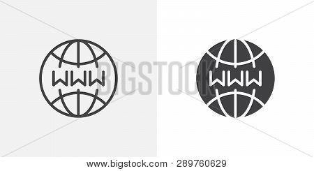 Internet Globe Icon  Vector & Photo (Free Trial)   Bigstock