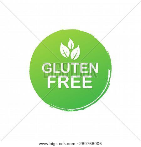 Gluten Free. Healthy Food Labels With Lettering. Vegan Food Stickers. Organic Food Badge. Lettering