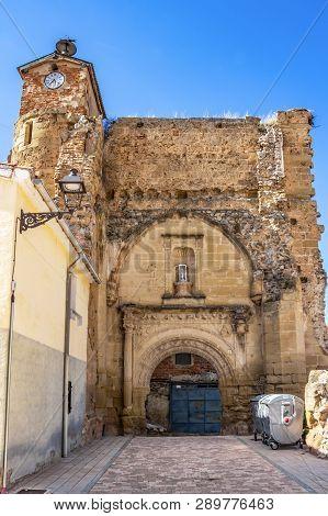 Ruins Of The Church Of San Nicolas At Plaza S. Nicolas, San Nicolas Square In Belorado, Province Of