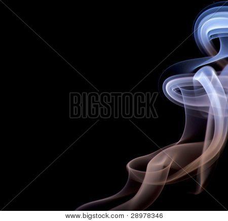 Blue and brown abstract smoke