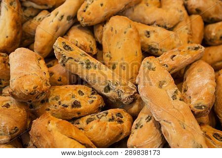 Fresh Breads And Baked Goods Close Up