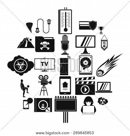 Televisor Icons Set. Simple Set Of 25 Televisor Icons For Web Isolated On White Background