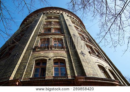 Water Tower in Berlin, Germany. This tower is a symbol for Prenzlauer Berg.