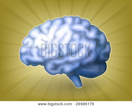 Human brain blue, bitmap copy