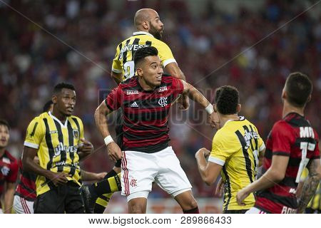 Rio, Brazil - March 16, 2019: Uribe Player In Match Between Flamengo And Volta Redonda By The Carioc