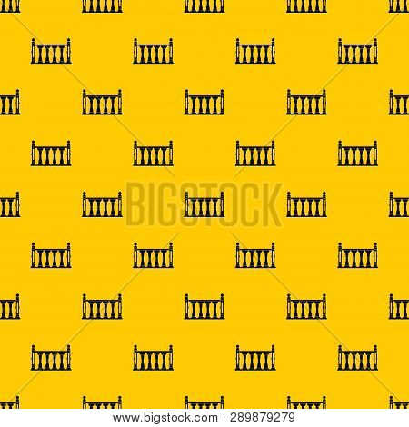 Balustrade Pattern Seamless Vector Repeat Geometric Yellow For Any Design