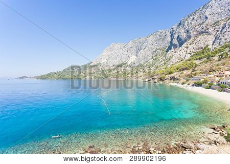 Drasnice, Dalmatia, Croatia, Europe - Overview Across The Beautiful Bay Of Drasnice