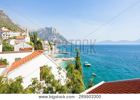 Brist, Dalmatia, Croatia, Europe - Lookout Upon The Beautiful Bay Of Brist