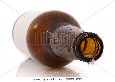 bottiglia di birra vuota