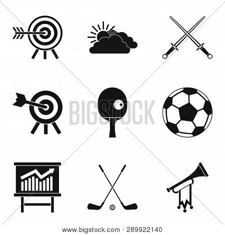 Target Hit Icons Set. Simple Set Of 9 Target Hit Icons For Web Isolated On White Background
