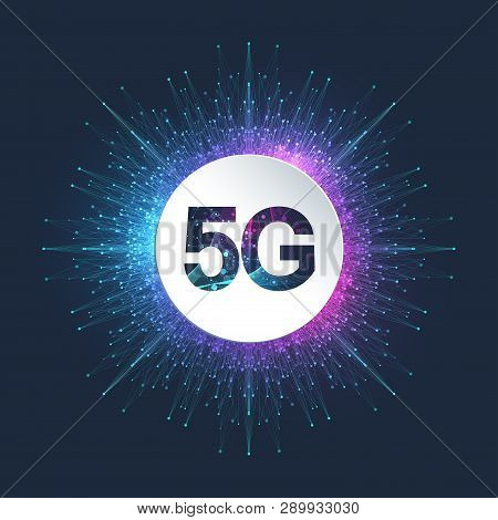 5g Network Wireless Systems And Internet Vector Illustration. Communication Network. Business Concep