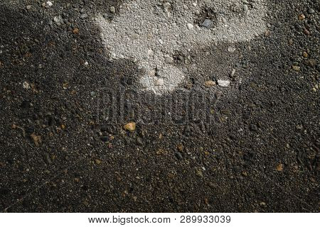 Wet Asphalt Road After The Rain. Asphalt Background. Background And Texture. Wet Asphalt Texture. We