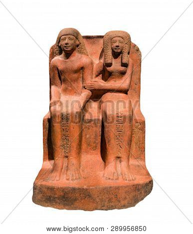 Egyptian Art, Amenhotep-user The Doorkeeper Of Amun With His Wife Ta-net-wadj.