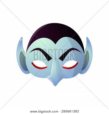 Carnival Halloween, Masquerade Earl Dracula Isolated On White Background