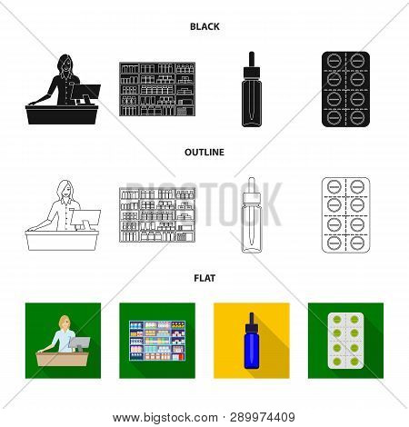 Vector Design Of Retail And Healthcare Logo. Collection Of Retail And Wellness Stock Vector Illustra
