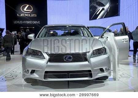 Brussels, Auto Motor Expo Lexus Hybrid Rx450H