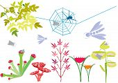 fantasy garden with carnivorous plants and mushrooms poster