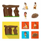 Vector design of evolution  and prehistory icon. Set of evolution  and development  stock vector illustration. poster
