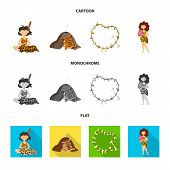 Vector illustration of evolution  and prehistory sign. Set of evolution  and development  vector icon for stock. poster
