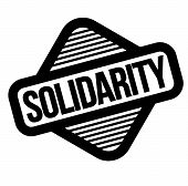 solidarity black stamp, sticker, label on white background poster