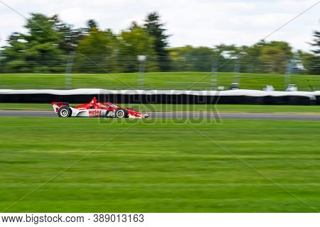 October 03, 2020 - Indianapolis, Indiana, USA: MARCUS ERICSSON (8) of Kumla, Sweden  races through the turns during the  race for the Harvest GP at Indianapolis Motor Speedway in Indianapolis