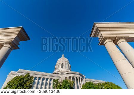 August 26, 2020 - Jefferson City, Missouri, USA: The Missouri State Capitol located in Jefferson City and it is the third capitol in the city after the other two were demolished