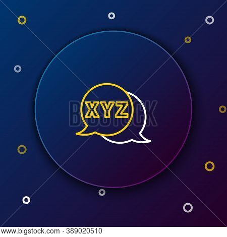 Line Xyz Coordinate System Icon Isolated On Blue Background. Xyz Axis For Graph Statistics Display.