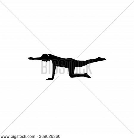 Pilates Logo Template Design Vector, Fitness Gymnastic