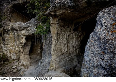 View Of The Cave Town Of Chufut-kale Near The Town Of Bakhchisarai In Crimea.
