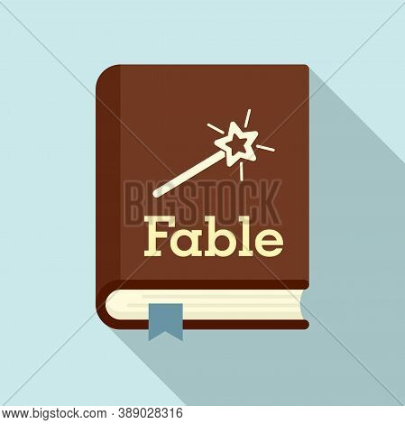 Fable School Book Icon. Flat Illustration Of Fable School Book Vector Icon For Web Design