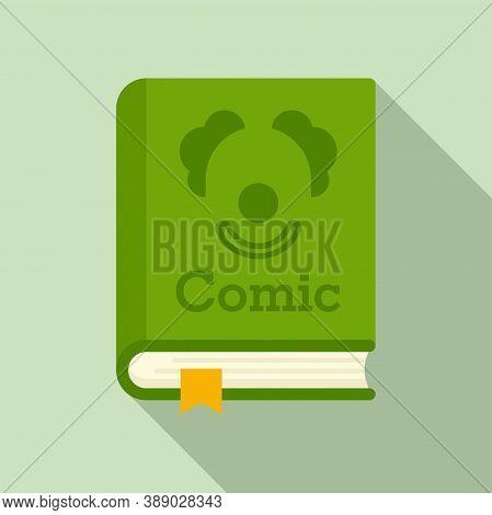 Comic Genre Book Icon. Flat Illustration Of Comic Genre Book Vector Icon For Web Design