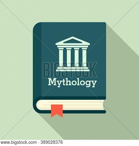 Mythology Book Icon. Flat Illustration Of Mythology Book Vector Icon For Web Design