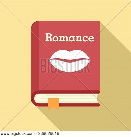 Literary Romance Book Icon. Flat Illustration Of Literary Romance Book Vector Icon For Web Design
