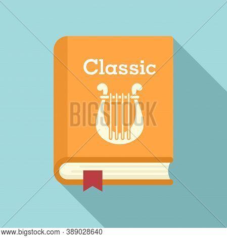 Classic Literary Book Icon. Flat Illustration Of Classic Literary Book Vector Icon For Web Design