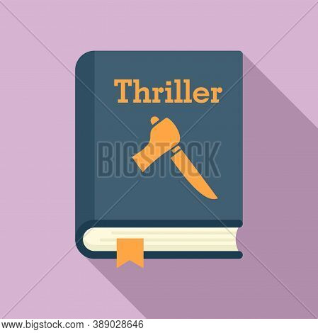 Thriller Book Icon. Flat Illustration Of Thriller Book Vector Icon For Web Design