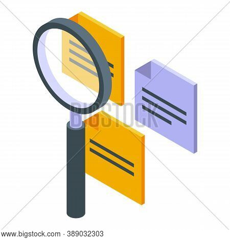 Magnifying Ideas Icon. Isometric Of Magnifying Ideas Vector Icon For Web Design Isolated On White Ba