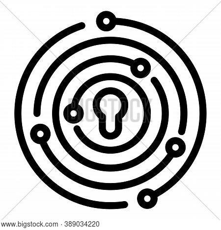 Idea Reliability Icon. Outline Idea Reliability Vector Icon For Web Design Isolated On White Backgro